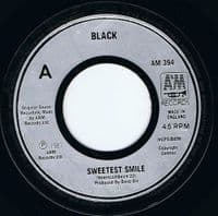 BLACK Sweetest Smile Vinyl Record 7 Inch A&M 1987